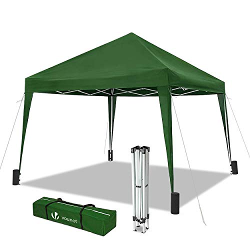 VOUNOT 3x3m Pop Up Gazebo for Garden, Folding Party Tent, Green