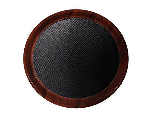 Staab's Gastro Tablett Mahagoni-Schwarz mit antirutsch Oberfläche, Kellnertablett, Serviertablett, Bierglasträger, Gläsertablett (Ø 36 cm)