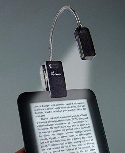LED Leselampe mit Klammer für Kindle, Schwarz