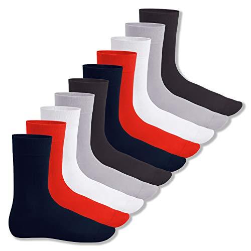 Footstar Herren und Damen Baumwollsocken (10 Paar), Klassische Socken aus Baumwolle - Everyday! - Metropolis 35-38