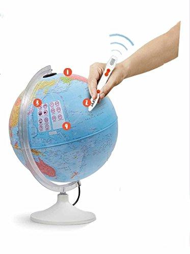 Globo Terráqueo Parlamondo interactivo, globo interactivo para niños en castellano