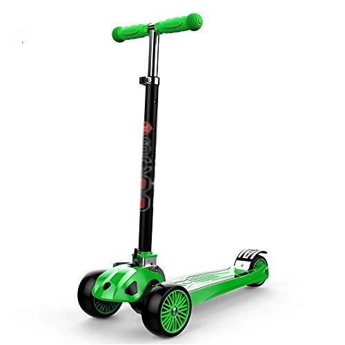 MGIZLJJ Scooter 2-in-1-Scooter für Kinder mit abnehmbarem Klappsitz Zero Assembling - Höhenverstellbarer Tretroller für Kleinkinder Mädchen & Jungen - Fun Outdoor-Spielzeug für Kinder Fitness 3 PU Fla