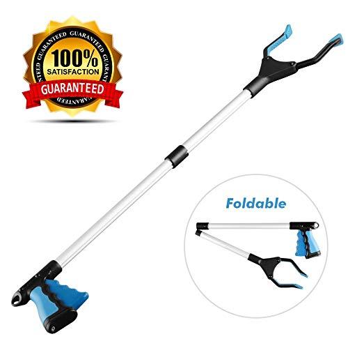 Grabber Reacher Tool, Reacher Grabber, Grabber Tool for Elderly, 32' Foldable Litter Picker, Garden Grabber, Arm Extension, Lightweight Mobility Aid, Extender Gripper Tool (Blue)