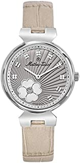 Mathey Tissot Fiore Women's Grey Dial Leather Band Watch - D1089aLS
