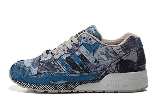 Adidas Originals ZX 710 Retro Running Shoes Blue Grey Sz 8