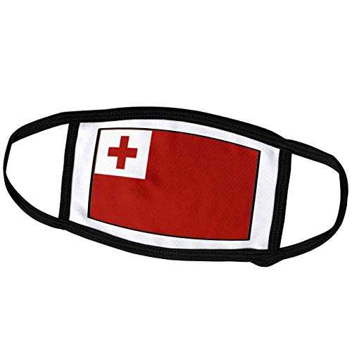 Promini Monatsmaske – Florene Weltflagge Knöpfe – Foto der Tonga Flagge Knopf – Staubmaske Outdoor-Schutzmaske