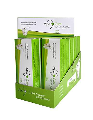 ApaCare Remineralisierende Zahncreme 12 x 75 ml Zahnpasta mit medizinischem Hydroxylapatit und Fluorid