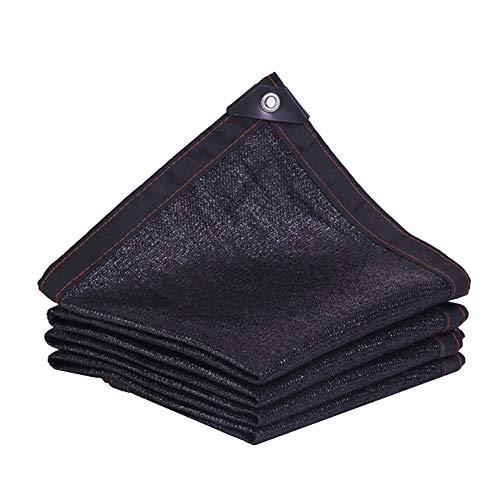 YXX-Filet d'ombrage 90% De Tissu De Protection Contre Les Rayons UV Pour Couvrir Les Plantes De Serre De Jardin, Bord Coupé Avec Filet Noir Avec Œillets, 100 G/M² (Size : 6mx7m)