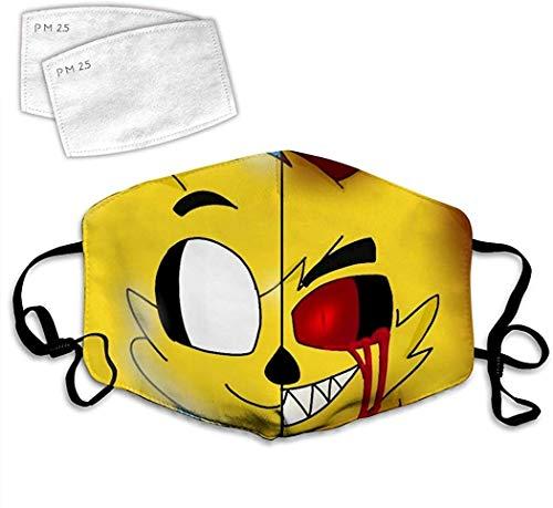 KunTai US Flagge Armee Logo 3D Mund Gesichtsabdeckung und 2 Filter, Gesichts-Mundabdeckung, verstellbares Gummiband Gr. One size, Mike-Crack Terror