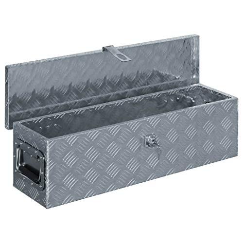vidaXL Aluminiumkiste 80,5x22x22cm Alu Box Koffer Werkzeugbox Transportkiste - 4