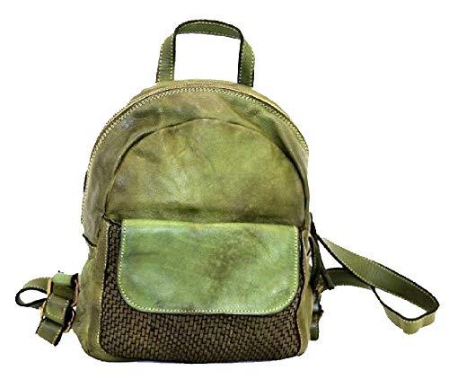 BZNA Bag Sam grün Backpacker Designer Rucksack Damenhandtasche Schultertasche Leder Nappa Italy Neu