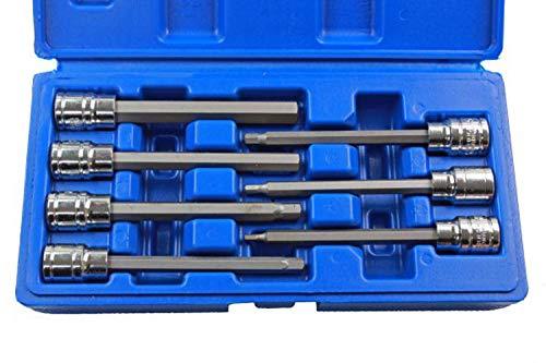 US PRO B1123 - Juego de llaves Allen (7 piezas, 3/8, 3-10 mm)