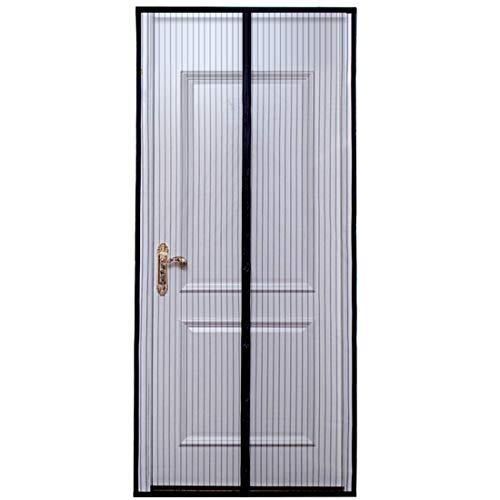 Magnetic Screen Door 36 x 82 Max Removable Screen Door with Full Frame Hook-Loop and Heavy Duty Mesh Curtain, Black ADKTTRFAKA-05