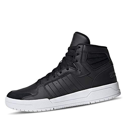 adidas Herren Entrap Mid Sneaker, Kern Schwarz/Kern Schwarz/Grau Sechs, 41 1/3 EU