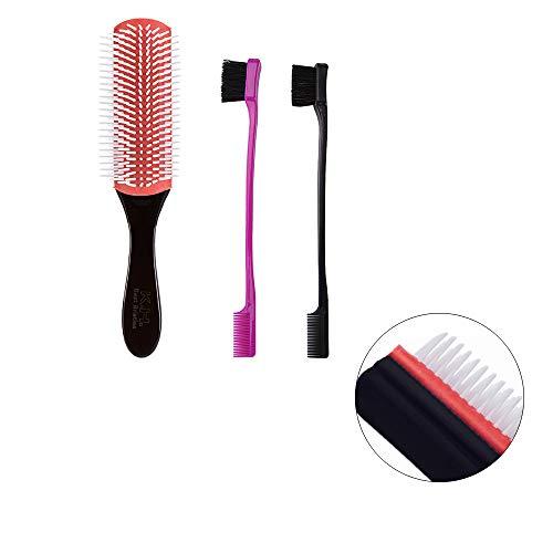 Ouneed- Peigne De Cheveux Plastique Peigne Maquillage Peigne Cheveux Professionnel Peignes de Coiffure Styling Antistatique Brosse à Cheveux (A)