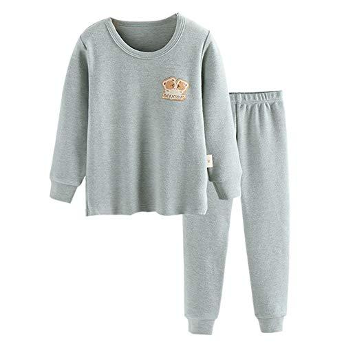 JWWN Toddler Boys Pajamas Set 2PCS Thermal Underwear Kids Pjs Sleepwear,(Green,2T)