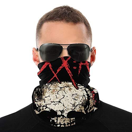 Sixx Am Logo Unisex Variety Face Mask Bandanas,3d Printe Dseamless Polyester Balaclava Cycling Face Neck Shields Sports Neck Gaiter Breathable Headkerchief