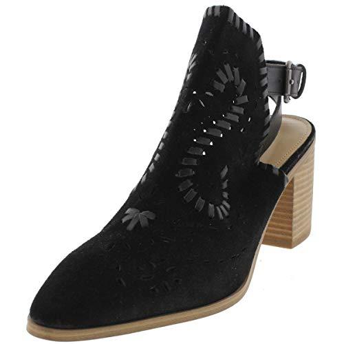 Ivanka Trump Womens Dora Leather Closed Toe Casual Ankle Strap, Black, Size 9.0