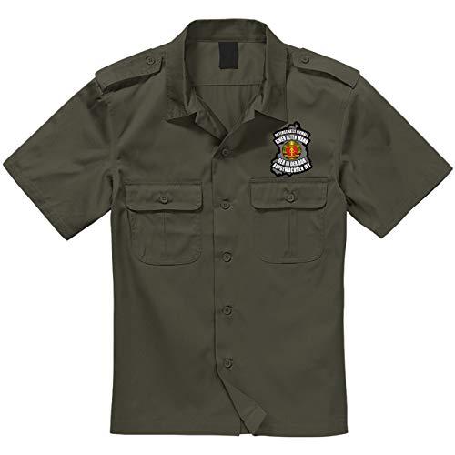 Spaß kostet Armee Hemd Kurzarm Unterschätze nie einen Alten Mann aus der DDR mit Aufnäher Größe S - 7XL