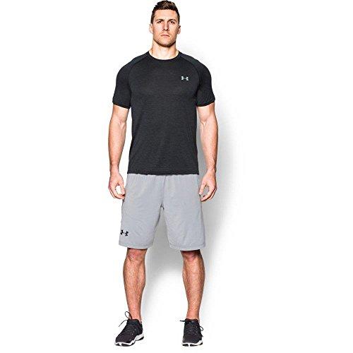 Under Armour Ua Tech Ss Tee, Camiseta De Fitness Hombre, Gris (Black Twist), L
