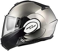 LS2 Helmets Motorcycles & Powersports Helmet's Modular Valiant (Black Chrome, Medium)