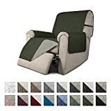 Easy-Going Recliner Sofa Slipcover Reversible Sofa Cover Furniture Protector Couch Shield Water Resistant Elastic Straps PetsKidsChildrenDogCat(Recliner,Army Green/Beige)