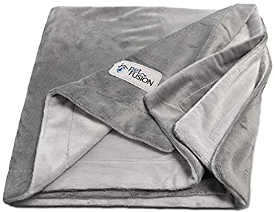 PetFusion Roll over image to zoom in NEW Premium Pet Blanket. Reversible Gray Micro Plush. [100% soft polyester] by PetFusion