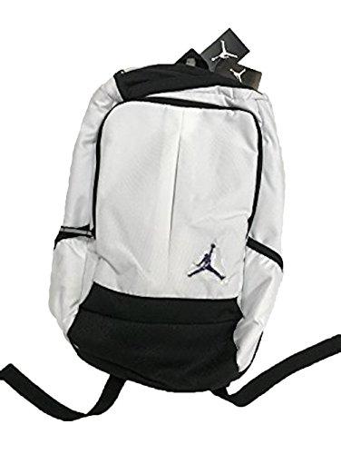 Nike New Air Jordan Jumpman Classic Boy's Girl's Bookbag Laptop Storage Sports Bag, White/Black