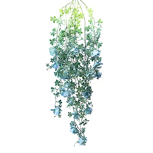 Sucpur Artificial Hanging Flower Vine, Simulation Begonia Flower Festival Supplies for Home Decor Indoor Outdoor Wall Handing Artificial Fake Hanging Plants Artificial Begonia Fake Flower Rattan