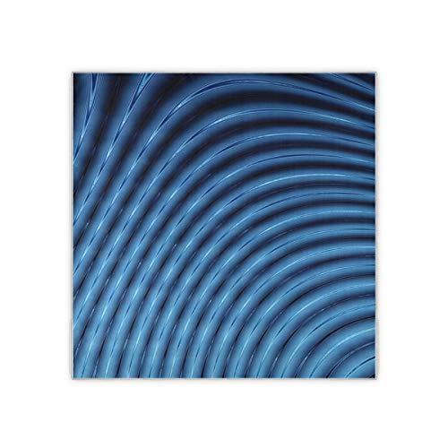Resumen 3d líneas azules licuadora bufanda de mujer patrón de moda de mujer bufanda chal para mujer sensación manta bufanda chal 35x35 pulgadas