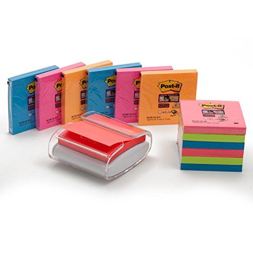 Post-It Pro-Z Note - Dispensador de notas, con 1 paquete de notas, color blanco/ transparente