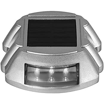 Happybuy Solar Driveway Lights 12-Pack, Dock Lights LED Bright White, Solar Deck Lights Outdoor Waterproof Flat for Lake Boat Marine Warning