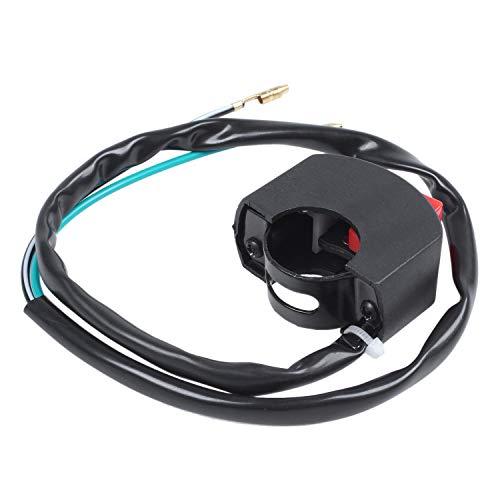 Liseng Interruptor de luz doble para manillar de motocicleta con botón de encendido/apagado.