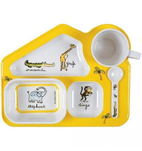 Le Studio 3660173052502 Vaisselle Jungle pour Enfants, Multicolore