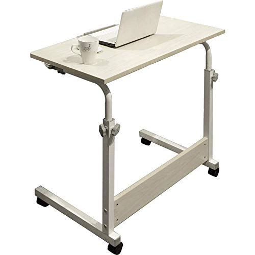 Opklapbare tafel Sofa Bed Table Bureau Laptop Schrijfbureau Uittrekken nachtkastje Luie laptop tafel Liftable kinderbureau Eettafel Balkon salontafel (Kleur: Teak kleur, Afmetingen: 80 * 50 cm)