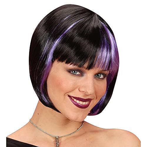Zoey Wig - Black Streaked/Purple