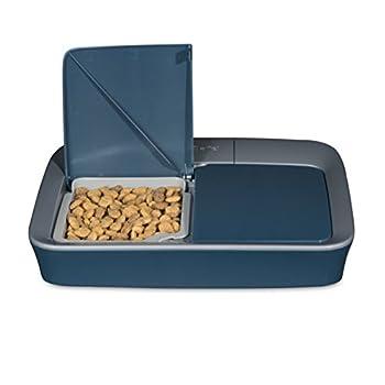 PetSafe - Distributeur Automatique de Croquettes Numérique pour Chat et Chien, 2 Repas Programmable (355ml), Écran Digital, Minuterie, sans BPA, lavable au lave-vaisselle, design antidérapant, à pile