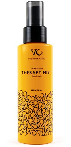 Vicious Curl Curlicure Therapy Mist – Leave in Conditioner Spray / Hair Moisturizer for Curly Hair – Anti Frizz Spray – Treatment Hair Spray (4 oz)