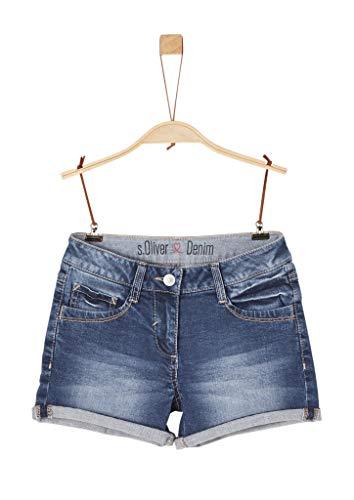s.Oliver Junior s.Oliver Junior Mädchen 76.899.72.3326 Shorts, Blau (Blue Denim Stretch 56Z3), 170 (Herstellergröße: 170/SLIM)