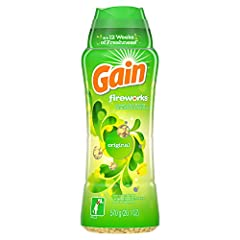 Gain Fireworks In-Wash Scent Booster gives your laundry up to 12 weeks of freshness, from wash until wear Works with your favorite detergent Add Gain to every step of your laundry for more of the great Gain scent Can be used on all colors and fabrics...