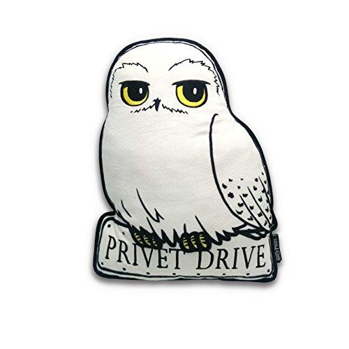 Harry Potter Kissen Eule Hedwig weiß/grau, Bedruckt, aus 100% Polyester, im Polybeutel.
