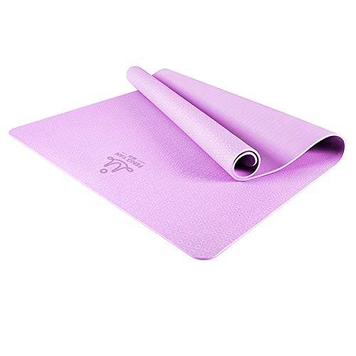 HAOQI Esterilla de yoga de alta densidad, gruesa, excelente agarre, antideslizante, impermeable, pilates, multiusos, 1 183 x 122 cm, color morado