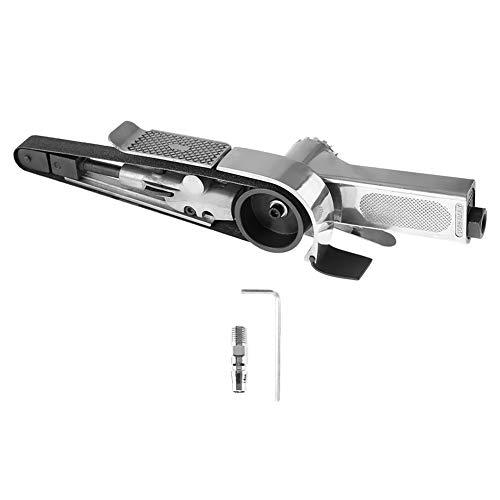 Akozon Druckluft Bandschleifer Pneumatische Industrielle Luftschleifmaschine Pneumatische Polierwerkzeug 16000rpm 20 * 520mm Geeignet zum Schleifen von Schweißteilen(20 * 520mm)