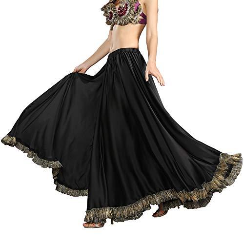 ROYAL SMEELA Flamenco-Rock für Frauen Zigeuner 12 Yards voller Rock Bauchtanz 360 Grad Voller Kreis Tanz Röcke Boden wischen Länge Großer Saum Maxirock Tanzkostüm