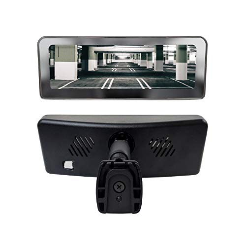 Master Tailgaters Frameless Rear View Mirror with 7' LCD Display and 4 Video Inputs - for Multi Camera Setups + Two Free Side Cameras