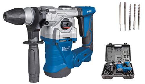 scheppach Bohrhammer DH1300Plus inkl. umfangreiches Zubehörset - Schlaghammer mit 1250 W | 5 Joule | SDS plus Aufnahme | Drehzahl 850 min-1 | Bohrleistung im Beton Ø 30mm)