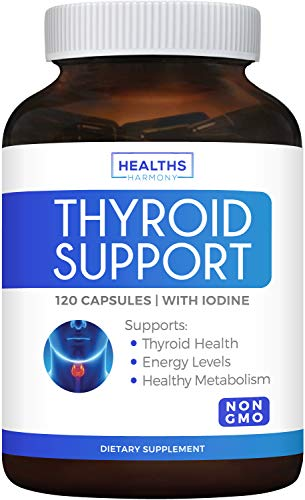 Thyroid Support with Iodine (120 Capsules & Non-GMO) Improve Your...