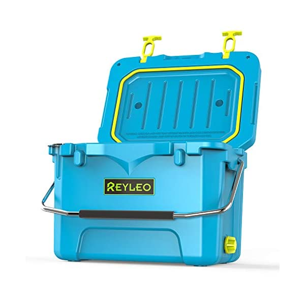REYLEO Ice Chest, Portable Rotomolded Arctic Cooler Keeps Ice Up to 3 Days, Bear-Resistant...