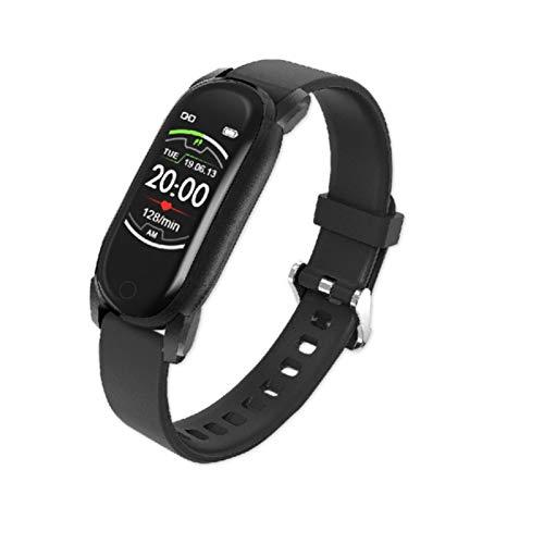 GYY Hombres Mujeres Smart Watch Presión Arterial Banda Inteligente Ratón Cardíaco Deporte Pulsera De Fitness Impermeable Señoras SmartWatch para Android iOS (Color : Black)