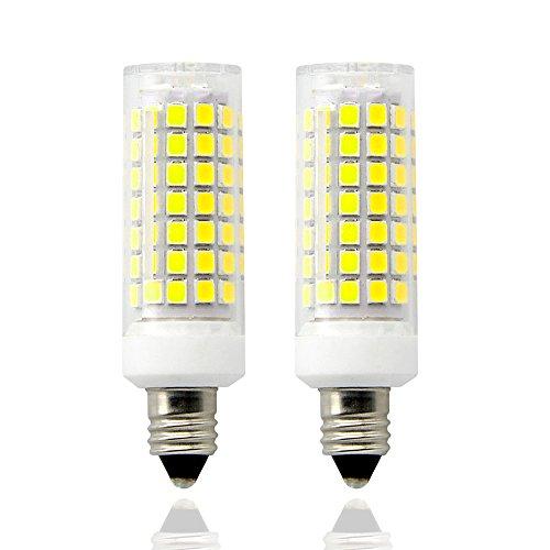 E11 led Bulbs,8.5 Watt,110V-130V, 700 lumens,Length 63mm,Mini Dimmable Candelabra Base, JD Type Clear E11 Light Bulbs, 70W Halogen Bulbs Replacement,(Pack of 2). (Daylight White)